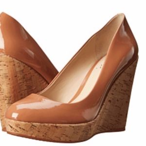 NEVER WORN - Vince Camuto Faran Cork Wedge Pumps